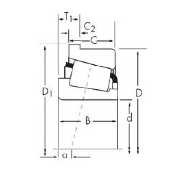 Bantalan 05075X/05185-B Timken